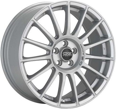 10,0x20 5x112 ET19 DIA66,46 Matt Race Silver Black Letteri OZ Racing Superturismo Dakar